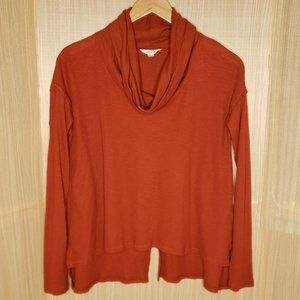 Sun & Shadow Thermal Knit Cowl Neck Top
